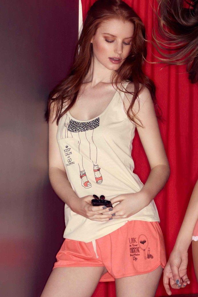 pijama corto de algodón en tonos pastel - Gisela Intimates #verano #summer #pijama #homewear #relax #home #descanso #vacaciones #holidays