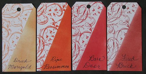 Distress Inks, reds/oranges