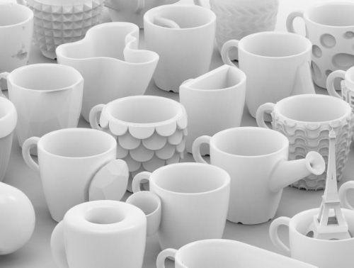 Cool! Coffee Cups rechtstreeks uit de 3d printer. Snel is anders.. het duurt ongeveer een dag om 1 kopje te maken.