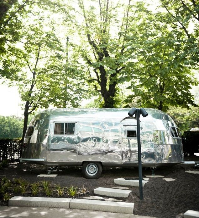 1952 Airstream at the Hotel Danie