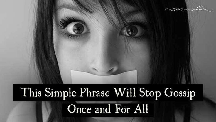 Gossip Family Quotes: This Simple Phrase Will Stop Gossip Once And For All