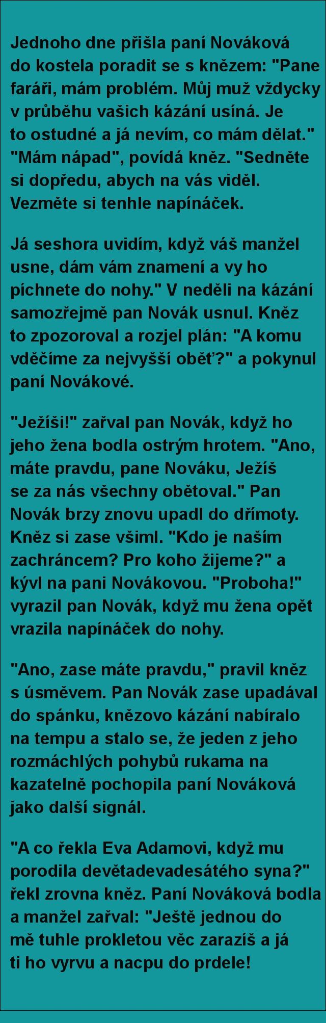Jednoho dne přišla paní Nováková do kostela.. | torpeda.cz - vtipné obrázky, vtipy a videa