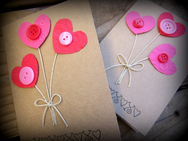 Cute Valentines, with buttons!