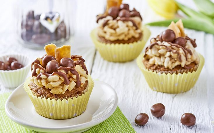 Easter Nest Sticky Toffee Cupcakes