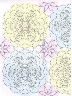 Padrões de túnica floral openwork para crochê tricô