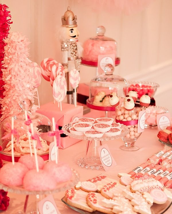 nutcracker ballet party: Party'S, Pink Christmas, Ballet Party, Pink Party, Nutcrackers Party, Party Idea, Desserts Tables, Christmas Party, Birthday Party