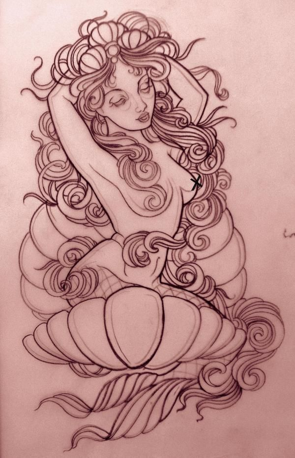 neo traditional mermaid - Google Search