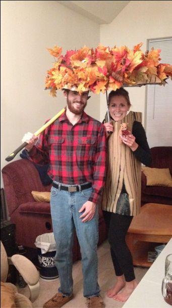 Couple costume- lumberjack and tree