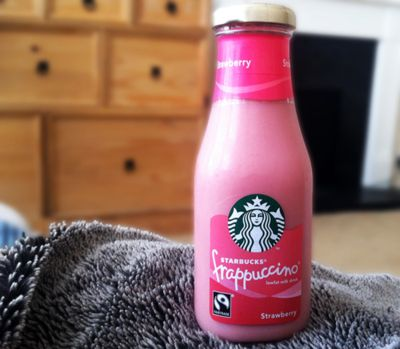 PINK Starbucks. :) YUM!