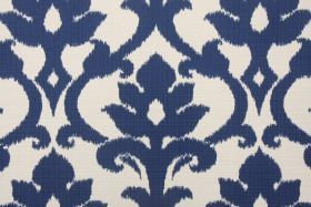 Pillow for living room or dining banquette.  Fabric by the Yard :: Richloom / John Wolf Basalto Solarium Collection Outdoor Fabric in Navy $8.95 per yard - Fabric Guru.com: Fabric, Disc...