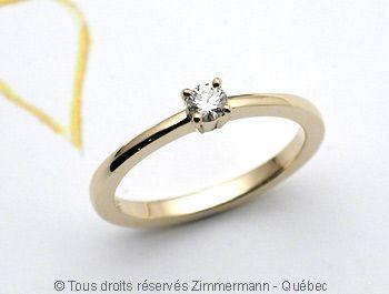 Solitaire Diamant 11/100 ct