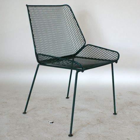 If I could find these, I'd buy them in a heart beat. green mesh outdoor chairs | salterini vintage wire mesh outdoor chairs wire mesh seat circa 1950 ...