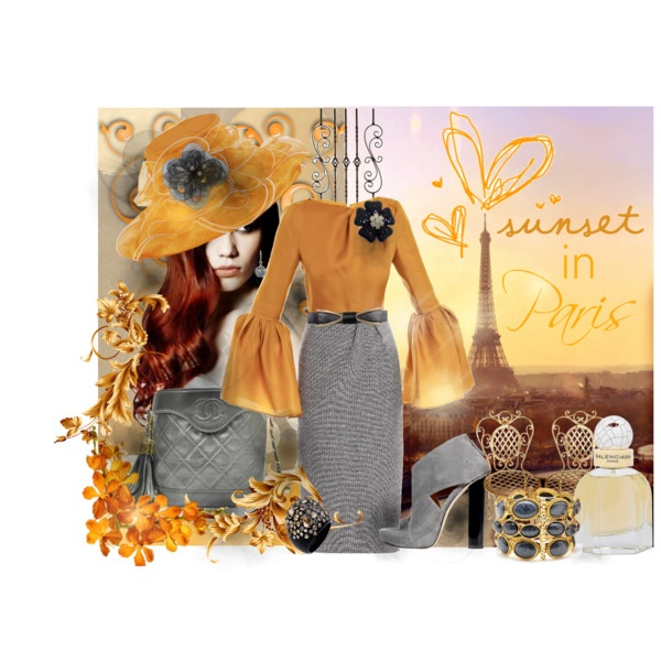 'Sunset In Paris', created by rjaynne on PolyvoreFashion Set