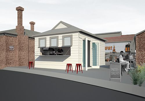 station toilet block to cafe conversion