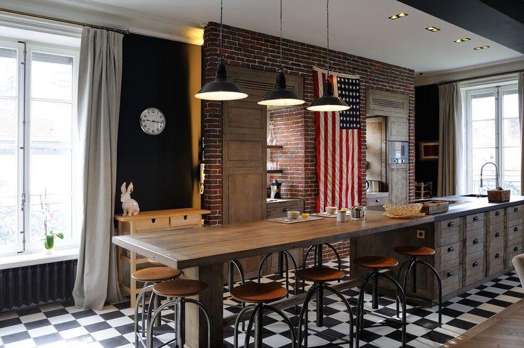 Les 25 meilleures id es de la cat gorie cuisine rustique for Architecte interieur vendee