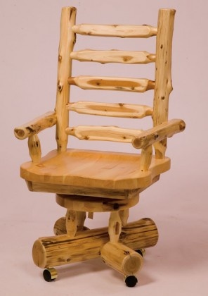 Rustic Lodge Traditional Log Executive Chair   Product ID: FSL 17120 Rustic  Lodge Furniture