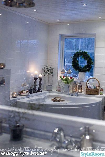 lantligt badrum,hemmaspa,hörnbadkar