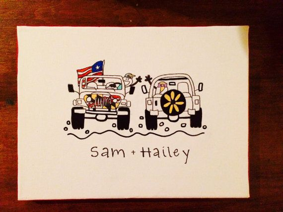 Big Little Sorority  Jeep Life Canvas Painting  by HolyCityHailey