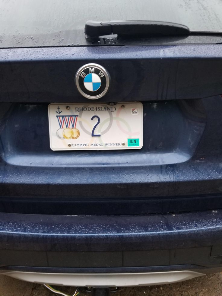 Rhode Island issues these special license plates to Olympic medal winners