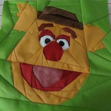 Muppet Monday: Fozzie Bear by Michelle Thompson! fandominstitches.com
