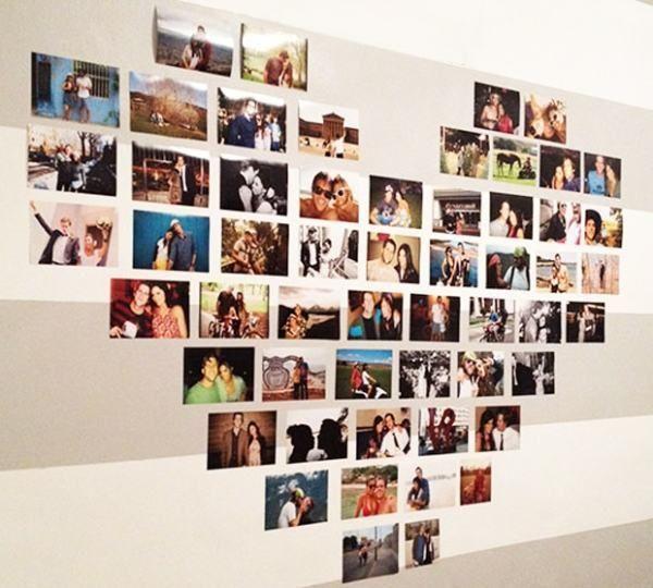 Decoração dia dos namorados - Prático  e com um apelo emotivo enorme, o painel de fotos é uma excelente maneira de mostrar todo seu afeto através dos momentos vividos ao lado do seu amor. Revele alguns dos registros de vocês e crie uma retrospectiva.
