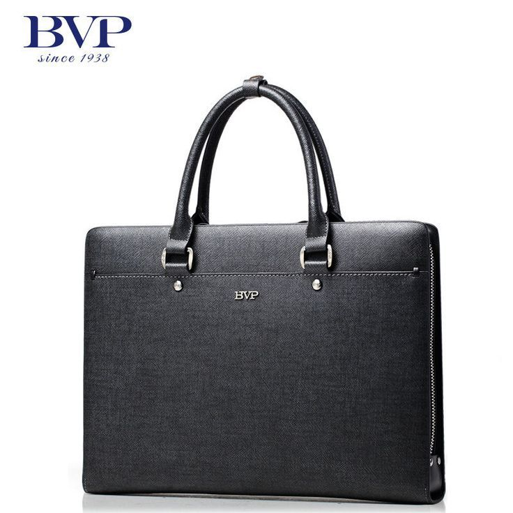 BVP High-end Branded Cowhide Twill 13 inch Laptop Briefcase Handbag Tote NEW #BVP #SuitGarmentBag