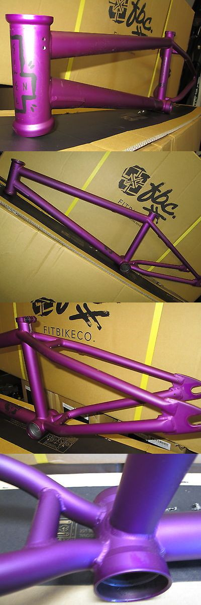 Bicycle Frames 22679: Fit Bmx Bike Frame Benny 3 Purple Freestyle Frame 20.75 Top Tube 5.3Lb Sale New BUY IT NOW ONLY: $144.99