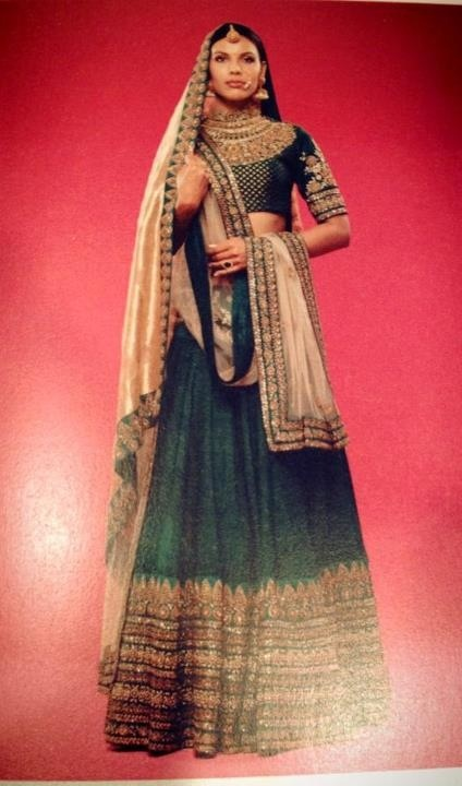 Sabyasachi :If he makes me look like this on my wedding, I can think about applying to 'Band Baja Bride' :P