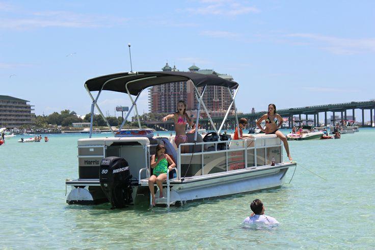 Destin pontoon boat rentals call crab island watersports