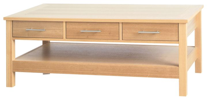 Coffee Table with 3 Drawers  L1092mm x W597mm x H440mm