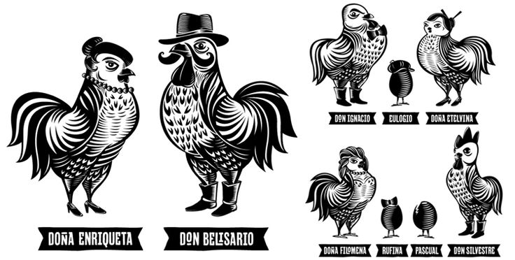 Located in Lima, Peru, Don Belisario is a restaurant devoted to rotisserie chicken, a popular familial meal in Peru. Found on Brand New. Designed by Infinito.