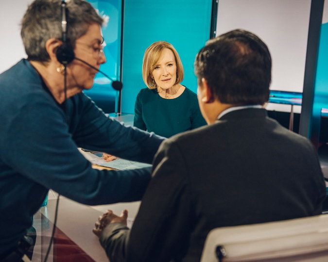 "Judy Woodruff, the Woman of the Hour - The New York Times  ~~~~       ""We don't feel the need to go off on a tangent and cover something that's the Twitter story of the day,"" Ms. Woodruff said of ""NewsHour."" Credit Jared Soares for The New York Times"