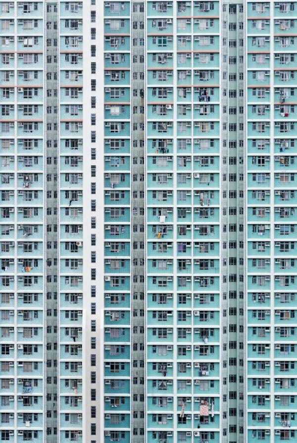 Concrete Living by Nick Frank.  Blue building.
