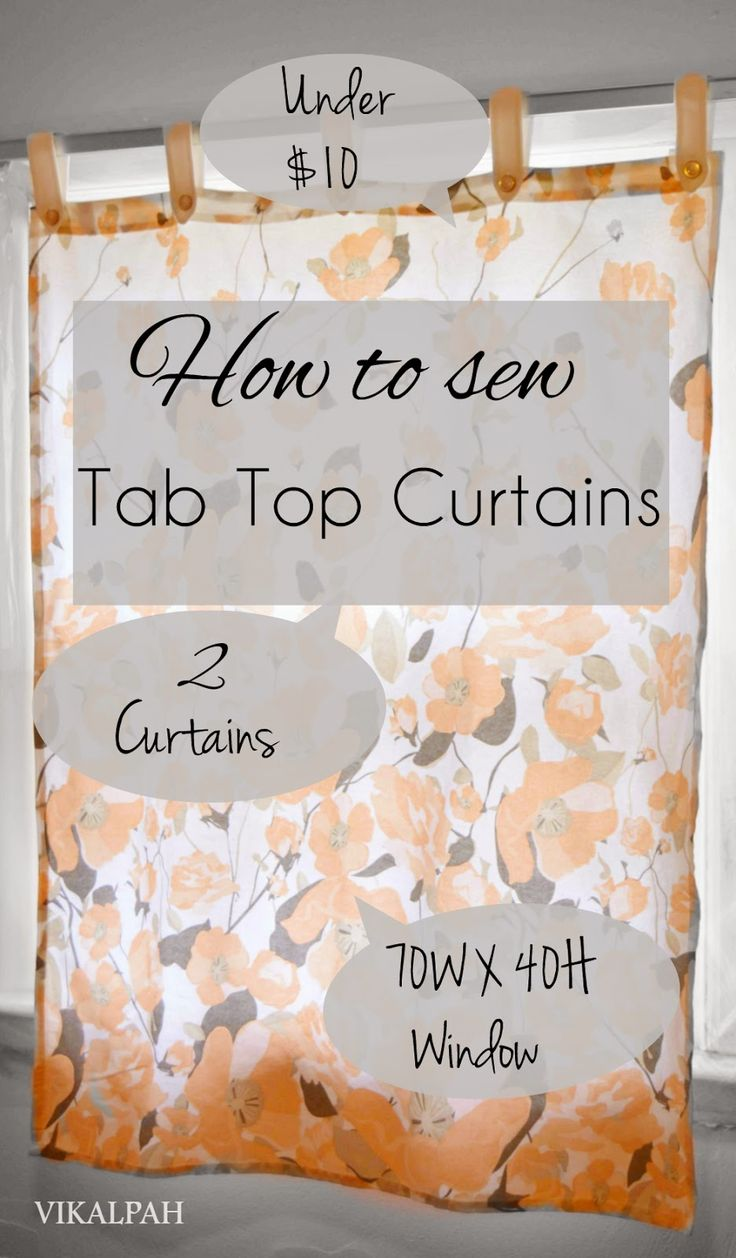 How to make tab top curtains - Http Vikalpah Blogspot Com 2015 04 How Sewing Diyfree Sewingsewing Tutorialssewing Projectstab Top Curtainssimple