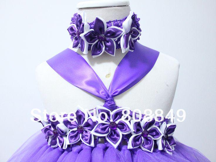 Голеностопного длина платья балетной пачки для новорожденных девочек фиолетовый цветок пачки принцесса ну вечеринку вечерние платья с повязка на голову 1 компл. бесплатная доставка, принадлежащий категории Платья и относящийся к Детские товары на сайте AliExpress.com   Alibaba Group
