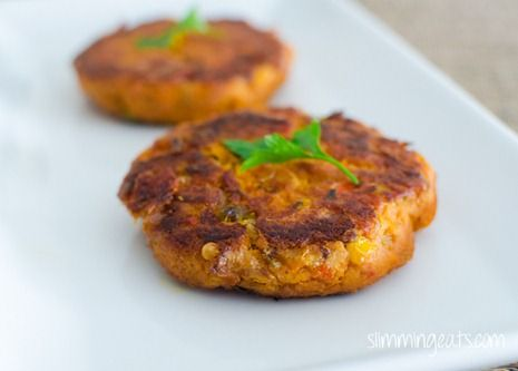 Slimming Eats Red Pesto, Sweet Potato and Tuna Burgers - gluten free, Slimming World and Weight Watchers friendly