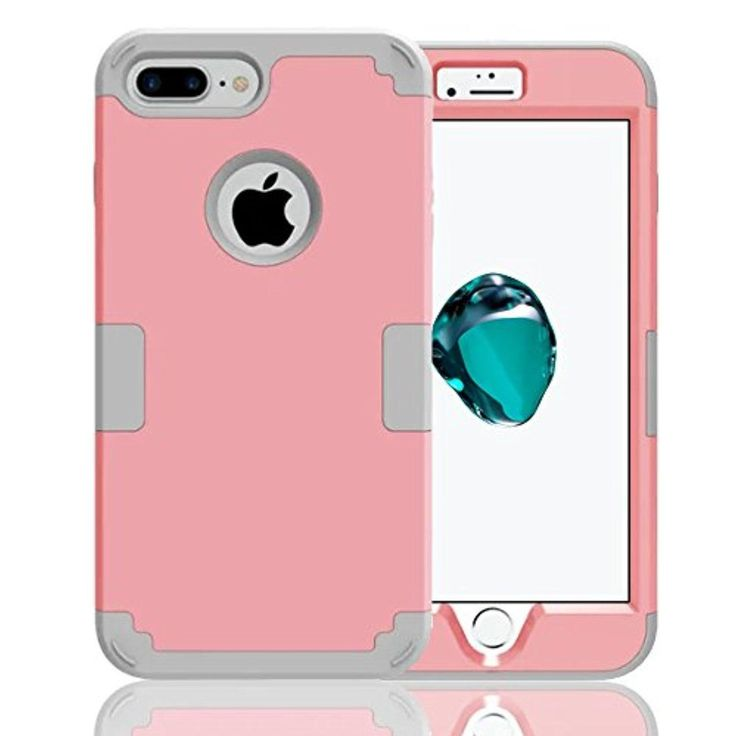 iPhone 7 Case,JDBRUIAN 3in1 Shield Series Heavy Duty Hybrid Hard PC Soft Silicone Combo Hybrid Defender High Impact Body Armor box Case for Apple iPhone 7 4.7' inch (2016) pink/Silvery - Brought to you by Avarsha.com