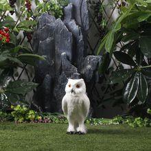 Decorative Feather Owl Animals Simulation Fur Lifelike Owl Figurine
