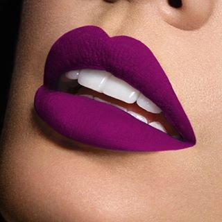 The matte purple lip for a big weekend is everything.