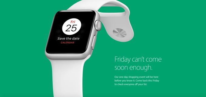 Apple teases a one-day Black Friday sale, a reversal from last year's decision to sit out