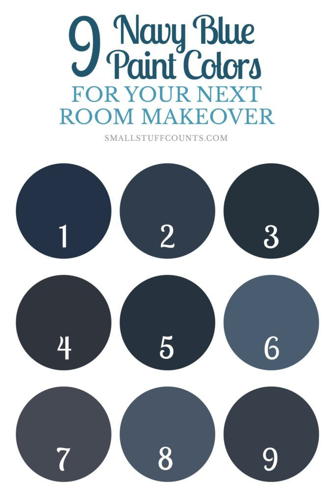 Have a painting project coming up? Here are 9 beautiful navy blue paint colors…