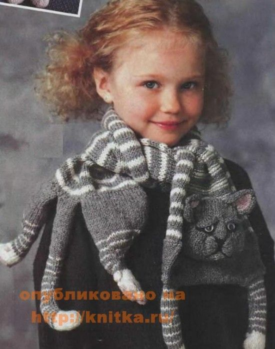 Knitted Cat Scarf Free Pattern
