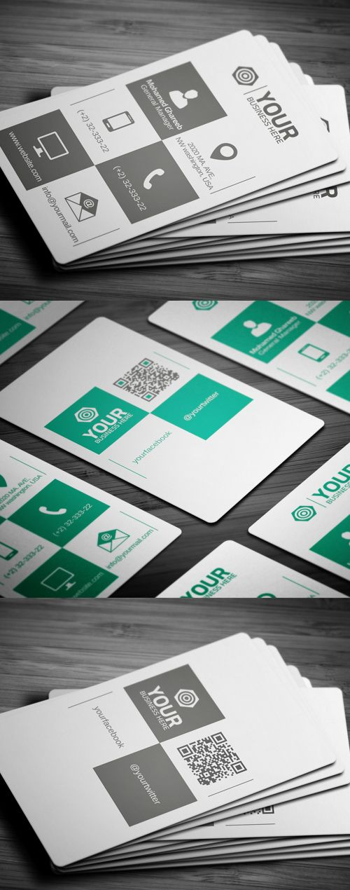 Creative Corporate Business Card #businesscards #printready #psdtemplates