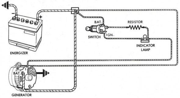 basic alternator wiring diagram  alternator electrical