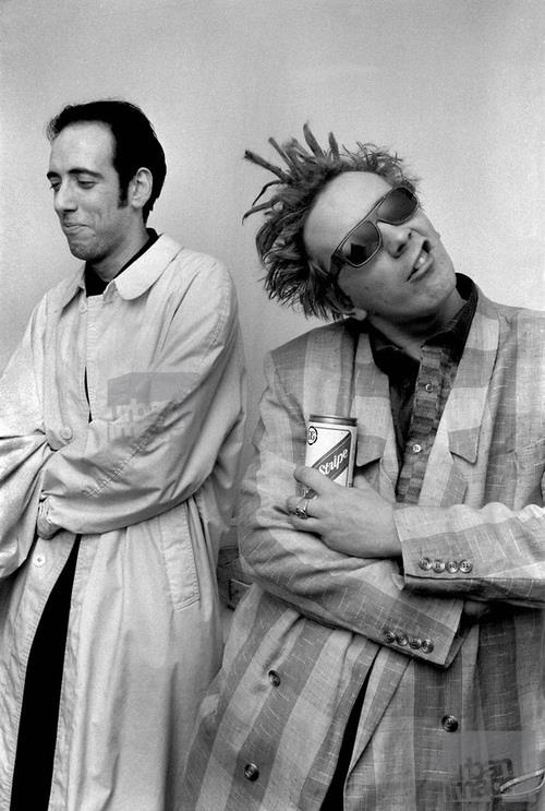 Mick Jones and Johnny Rotten   im sorry but i have always loved john lydon and is innane humour