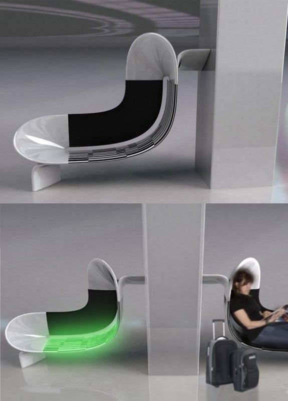 Adaptive Airport Seating That Modifies Into Different Seating Forms