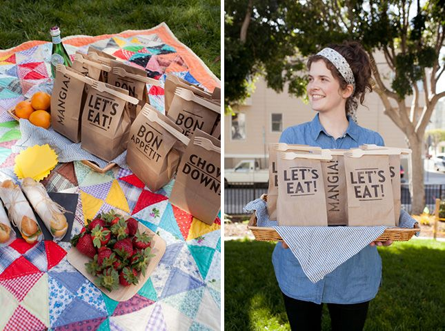 DIY these lunch bags for your next picnic.