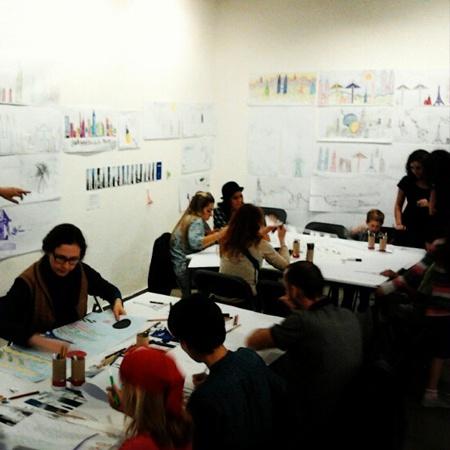 Resultats del BigDraw a EINA / Resultados del BigDraw en EINA  Del 24 al 31 d'octubre de 2012  Barcelona