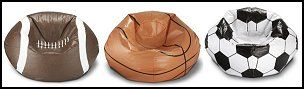 Sport Themed Bean Bags-football beanbag-soccer beanbag-tennis beanb, It makes for good seating area for playing video games or just to sit and read a book