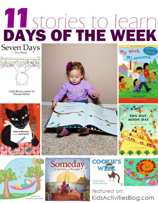 Read about the Days of the week by Rachel at Kids Activities Blog